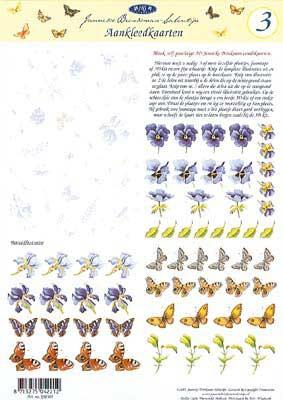 JS0303 Bloemen/Vlinders