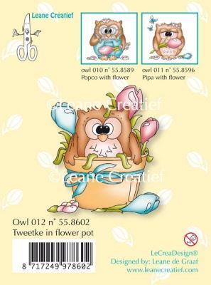55.8602 LeCreaDesign® Owlies Tweetke in bloempot