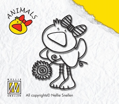ANI002 Nellie Snellen Stempel Duck Girl