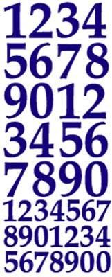 ST169BL Sticker Cijfers  Blauw