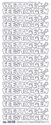 ST3046G Sticker Prettige Feestdagen Goud