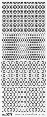 ST3077G Sticker Ovaaltjes Goud