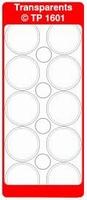 TP1601TZ Stickers Rondjes Transparant Zilver