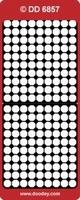 DD6857Z Stickers Randen  Zilver