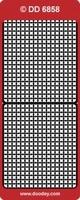 DD6858Z Stickers Randen Zilver