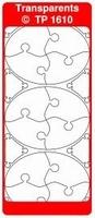 TP1610TG Stickers Ornamenten Transparant goud