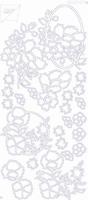 7001/0107 Sticker Joy Div.Bloemmotieven Zuilver