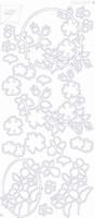 7001/0109Z Sticker Joy Div.Bloemmotieven Zilver
