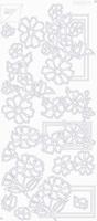 7001/0110 Stickers Div.Bloemenmotieven -  Goud