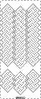 PU358TRZ Stickers Ornamenten Transparant Zilver