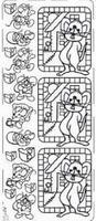 PU043Z Stickers Muis  Zilver
