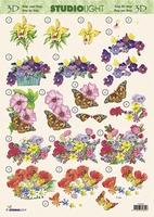 3DSLMIR062 - Vlinders/Bloemen