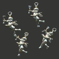 11808-1703 Hanger engel Platinum 20 mm 6 stuks