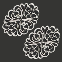 11808-9225 Metalen ornament 44x61 mm 2 stuks