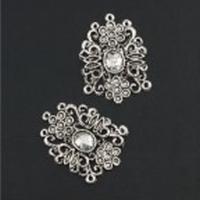 11808-9223 Metalen ornament 30x45 mm 2 stuks