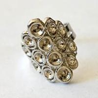 12011-1008 Ring verstelbaar ovaal 25 mm 1 stuks