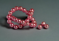 5010102  20 X Glasparel rose 6mm.