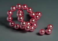 5010103  20 X Glasparel rose 8mm.