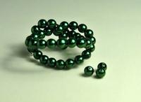 5010072  20 X Glasparel donker groen 6mm.