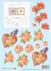 HJ4801 Bloemen Borduren