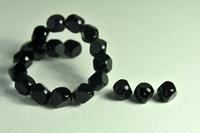 5020156  25 X Glaskraal zwart 10mm
