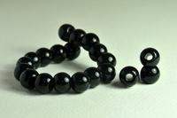 5020159  10 X Glaskraal zwart grootgat 11x17mm