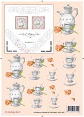 3DSS10007 Ann's Paper Art Thee/Koffiepot Borduren