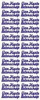 ST013W Sticker Van Harte Beterschap Wit