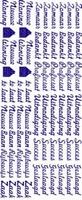 ST023WM Sticker Bedankt/Proficiat/Uitnodiging Wit/Multi