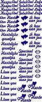 ST066WM Sticker Gefeliciteerd-Van Harte Wit/Multi