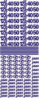 ST076Z Sticker 12 1-2, 40 en 50 jaar Zilver