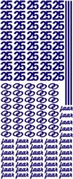 ST077WM Sticker 25 jaar Wit/Multi