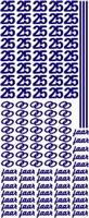 ST077Z Sticker 25 jaar Zilver
