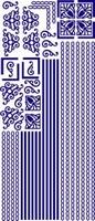 ST111BL Sticker Randen/Hoeken Blauw