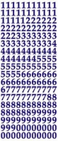 ST132BL Sticker Cijfers  Blauw