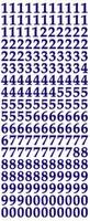 ST132R Sticker Cijfers  Rood