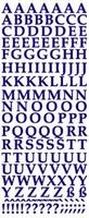 ST133BL Sticker Alfabet Blauw