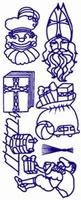 ST170R Sticker Sint en Piet Rood
