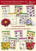 COM03 Voordeelpakket met 10 Bloemen 3D vellen