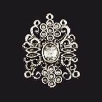 118089223 Metalen ovaal met bloemen zilverkleurig 2 stuks