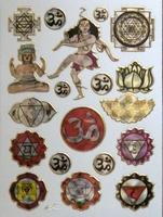 STE225 Budha  afm.stickervel 10 X 7,50 CM