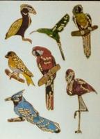 STE201 Vogels-Ara afm.stickervel 10 X 7,50 CM