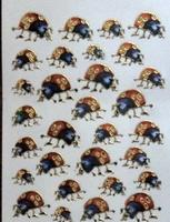 STE230 Lieveheersbeestje  afm.stickervel 10 X 7,50 CM