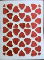STE242 Rode Hartjes  afm.stickervel 10 X 7,50 CM