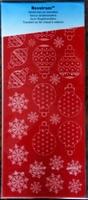 60014R Velvet strijkstikker Velours rood Kertfiguren