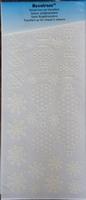 60014W Velvet strijkstikker Velours Wit Kertfiguren