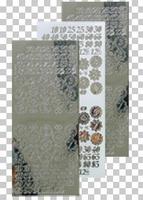 616653  Leane Creatief stickers Mirror Zilver Cijfers
