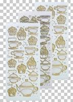 617407  Leane Creatief stickers Glitter Gold Thea & Cupcake