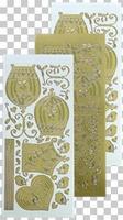 618763  Leane Creatief stickers Goud Vogelkooi
