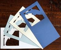 Stanskaarten Dolfijn 4 Stuks Wit,Creme,Lightblauw,en Blauw